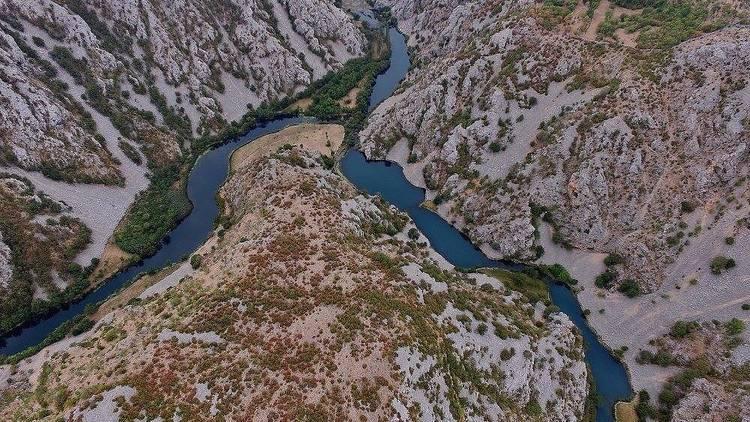 Zrmanja River Canyon in Zadar county