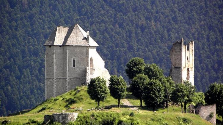 Sokolac Castle in Lika-Senj County, once home to local nobles, was first mentioned in 1343