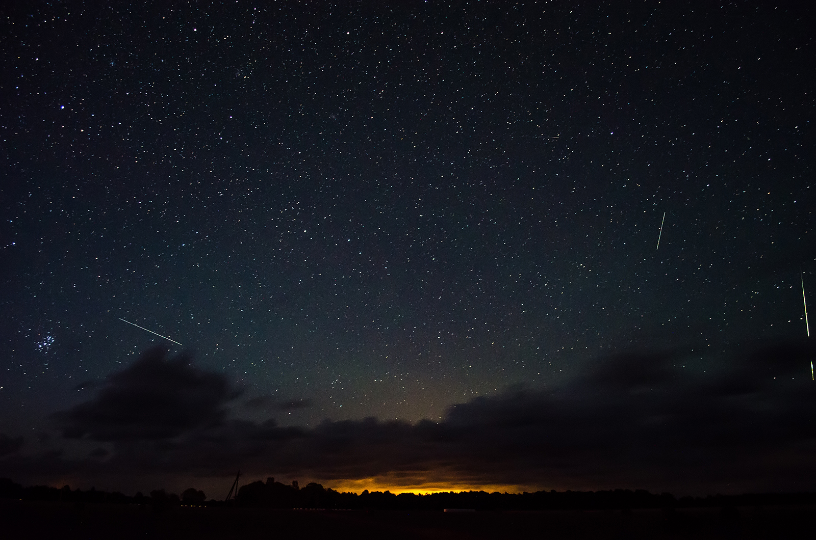 Meteor shower in Estonia in 2016