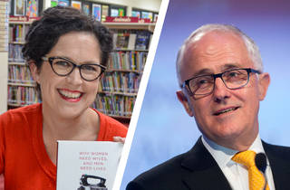 Annabel Crabb and Malcolm Turnbull