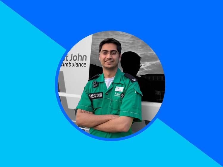 The St John Ambulance volunteer
