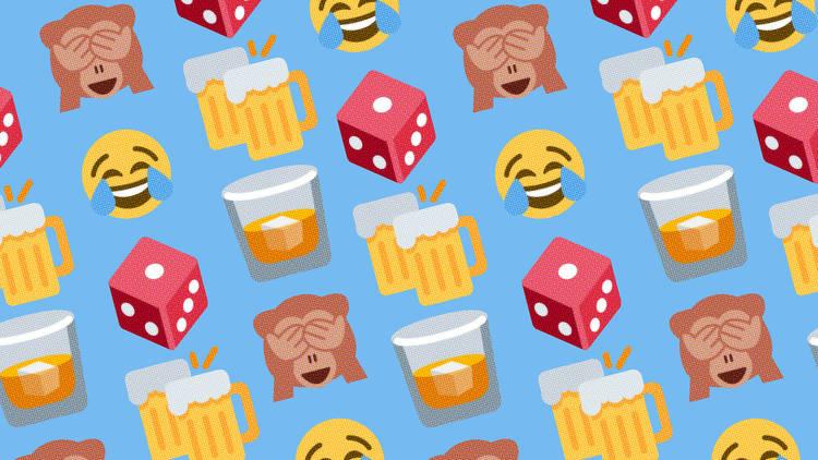 Online party game emojis