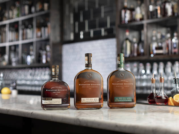 Woodford Reserve rye whiskey line-up