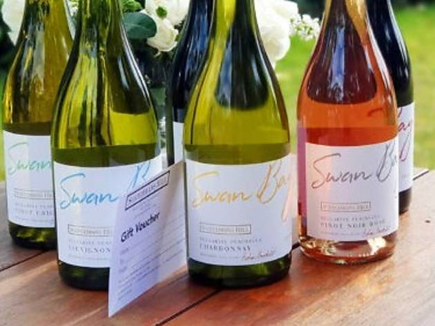 six bottles of Scotchmans Hill wine