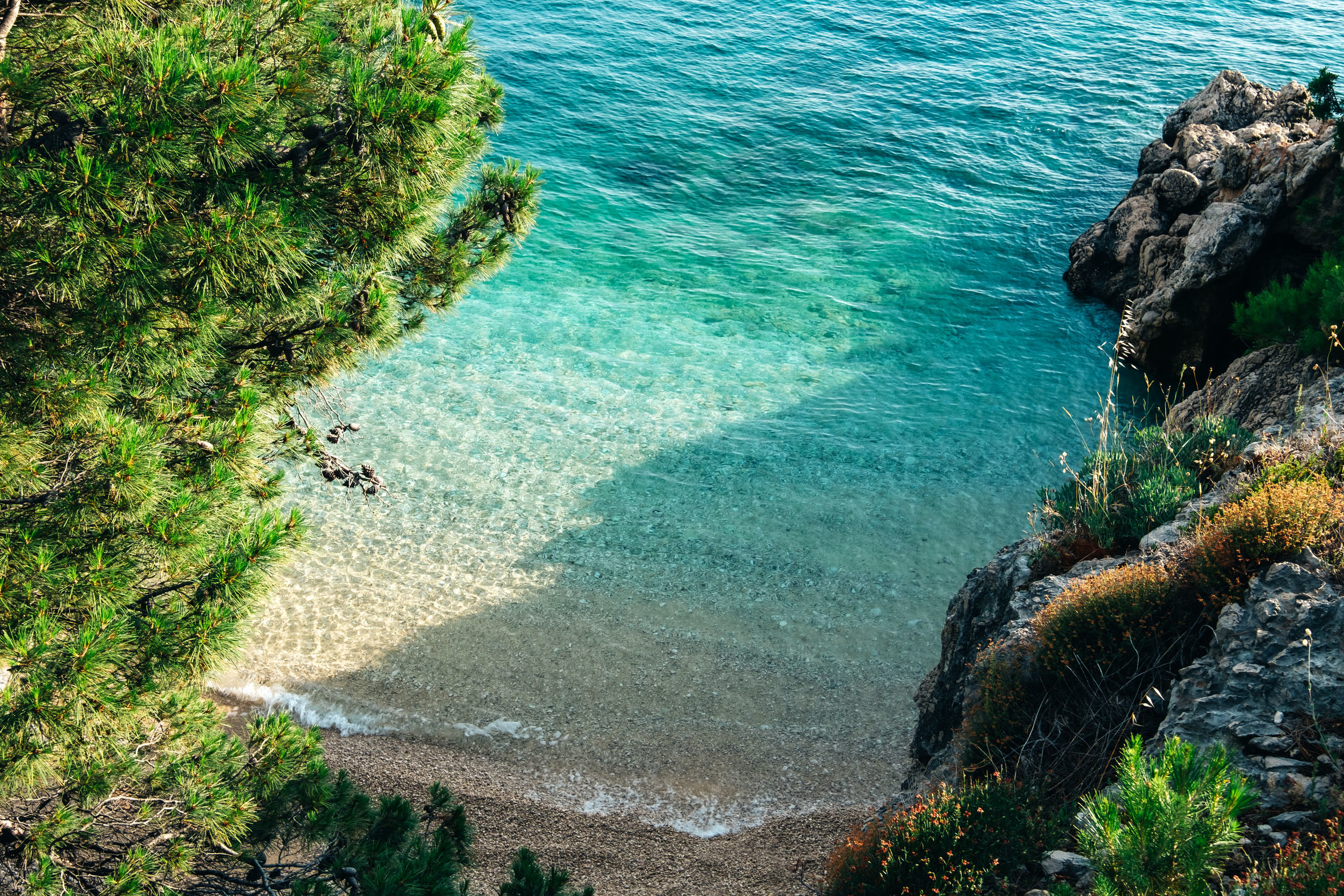 Bay near Podgora, Croatia Makarska riviera