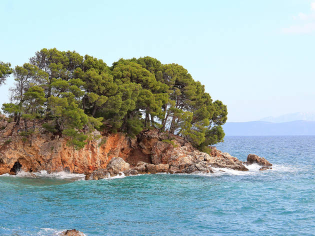 picturesque bay on the Adriatic coast