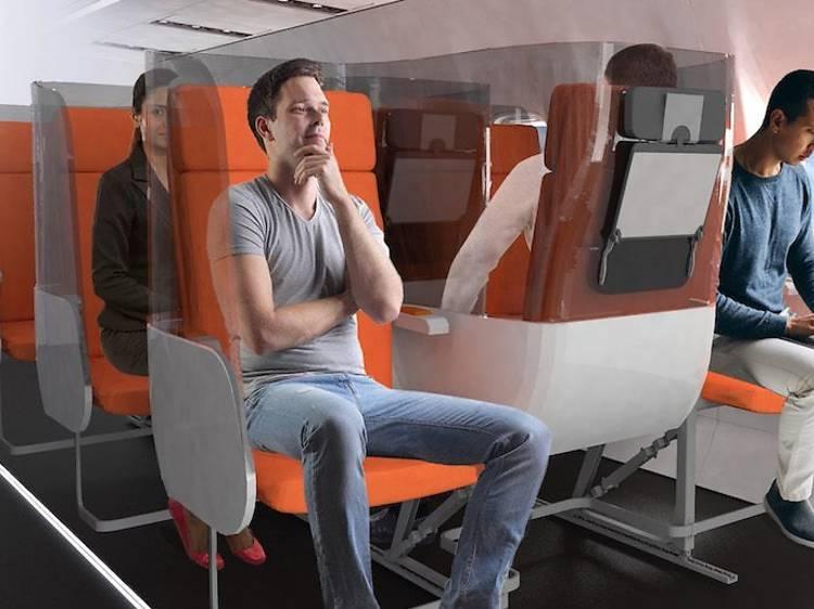 ポストコロナ時代、航空機の座席はこうなる? イタリア企業がプロトタイプを発表