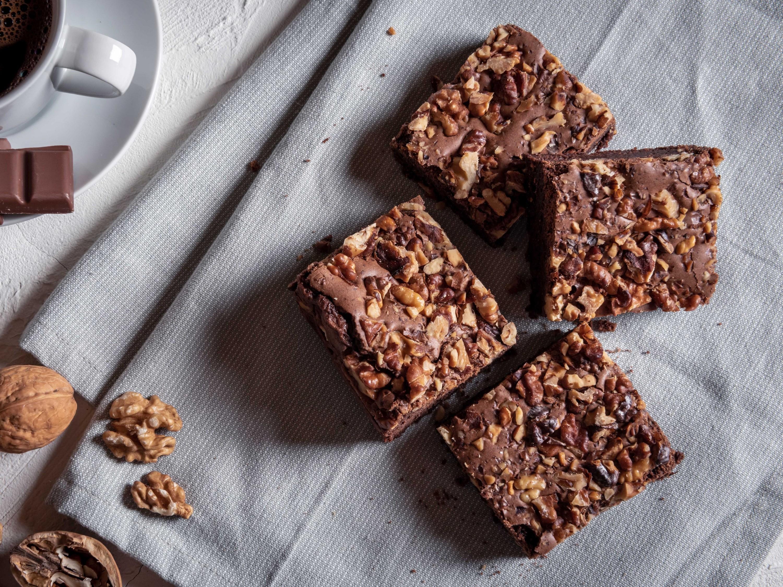brownies, walnut brownies, dessert, sweets, brownie, chocolate, shutterstock