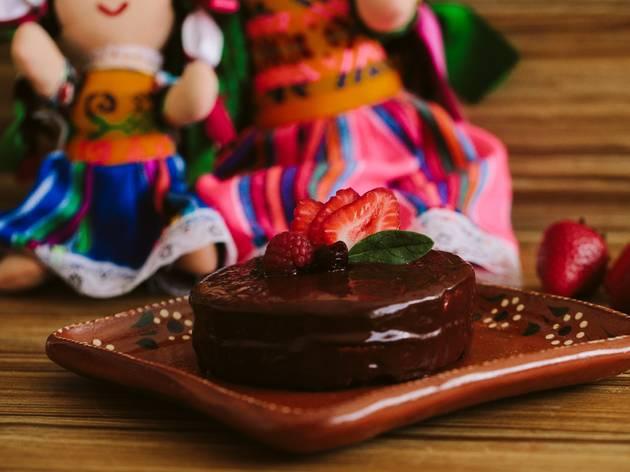 pastel de chocolate vegano de PaliPali