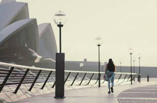 The Sydney Opera House under isolation