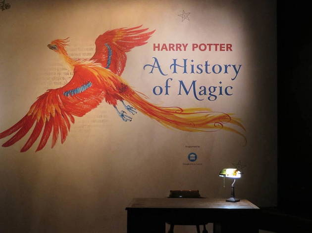 Harry Potter: A History of Magic exhibition, phoenix