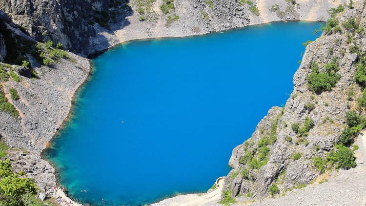 karst lake in the village of Imotski in Croatia