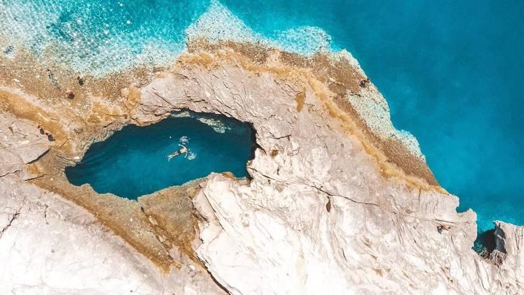 The 'Dragon Eye' on Dugi Otok, an island located west of Zadar