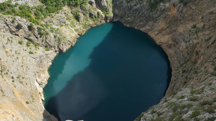 The Red lake in Imostki is so-positioned that no one has ever been able to throw a stone into it (and many have tried)