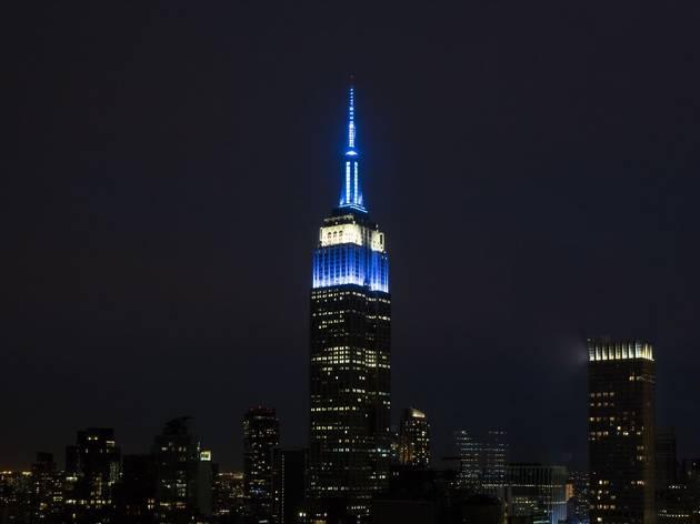 Empire State Building, #HEROESSHINEBRIGHT, First Responders, FDNY, EMS, U.S. Coast Guard, U.S. Navy, U.S. Army