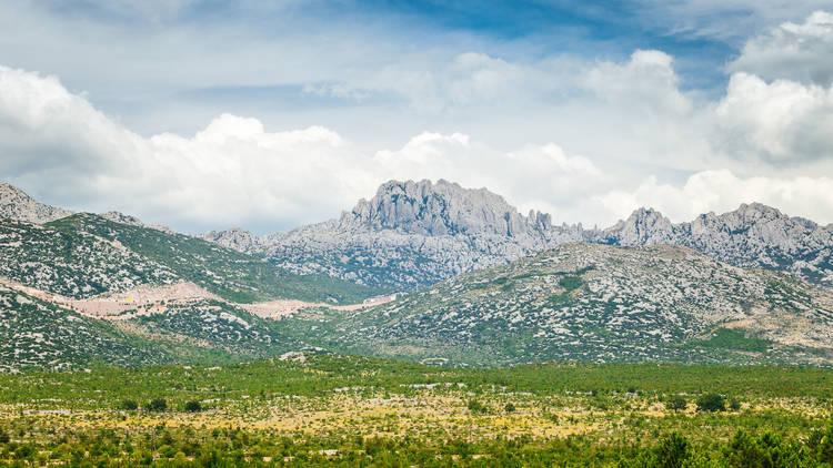 Tulove Grede (Tule beams), rocky limestone massif located in the
