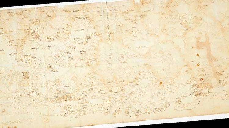 Oldest map of Croatia