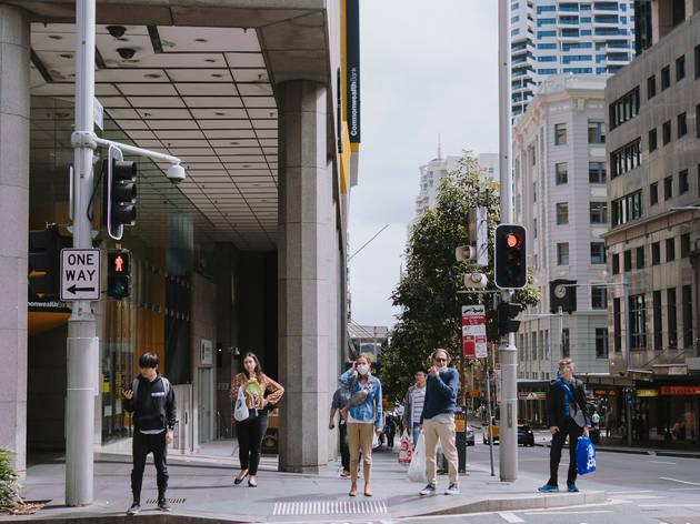 Sydney CBD during Covid-19 shutdown