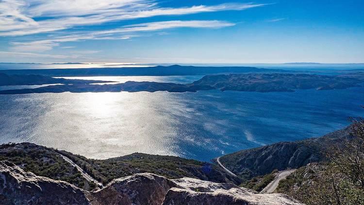 View of Adriatic sea near Karlobag, Zadar county