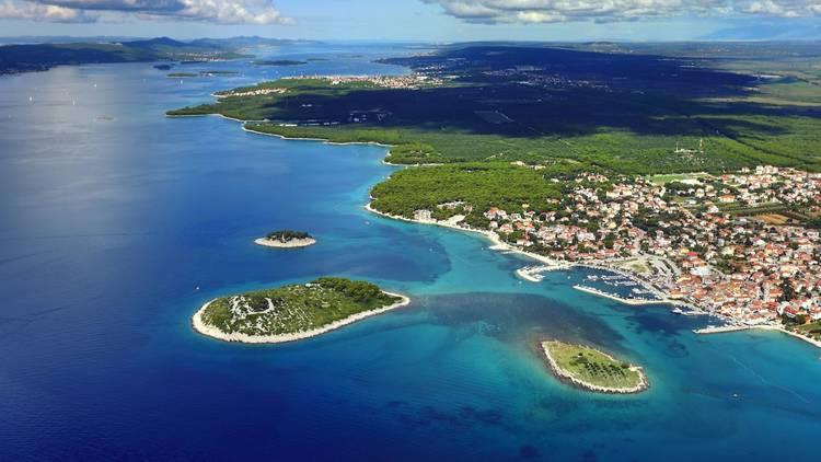 Pine beach, Pakostane, Zadar county
