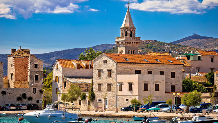Ancient architecture and waterfront of Kastel Stafilic