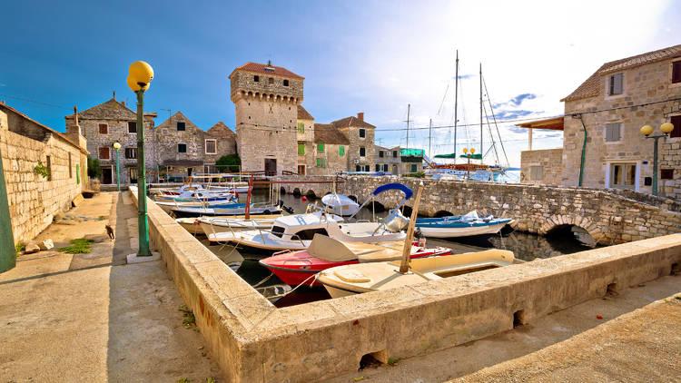 Kastel Gomilica old town on the sea near Split, Dalmatia region