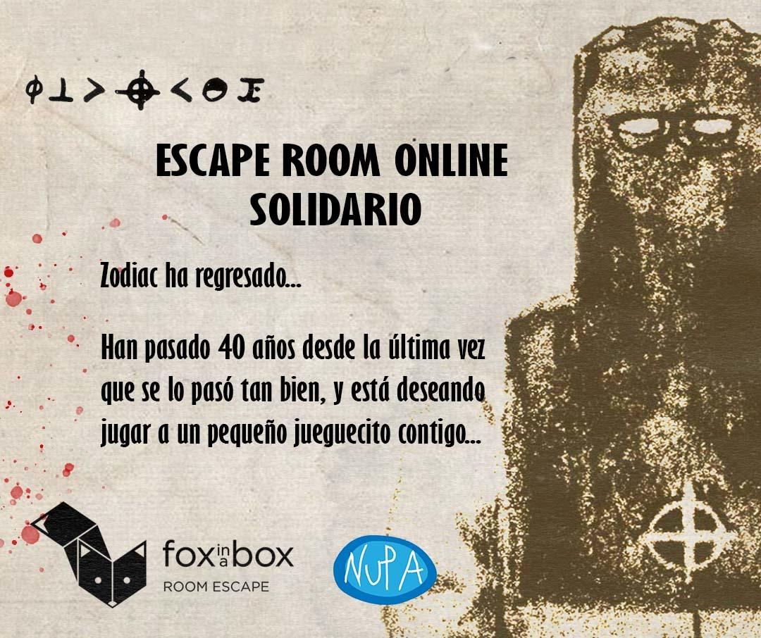 Escape room vistual Fox in a box
