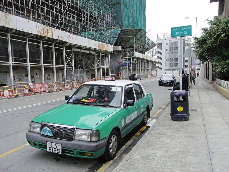 Why can't green taxis go to Sha Tin?