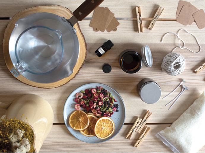 Set de velas aromáticas para hacer en casa DIY