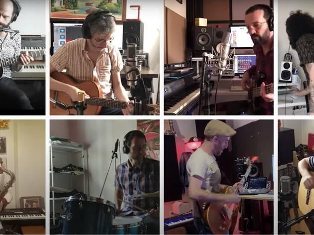 Grabación desde casa de varios músicos