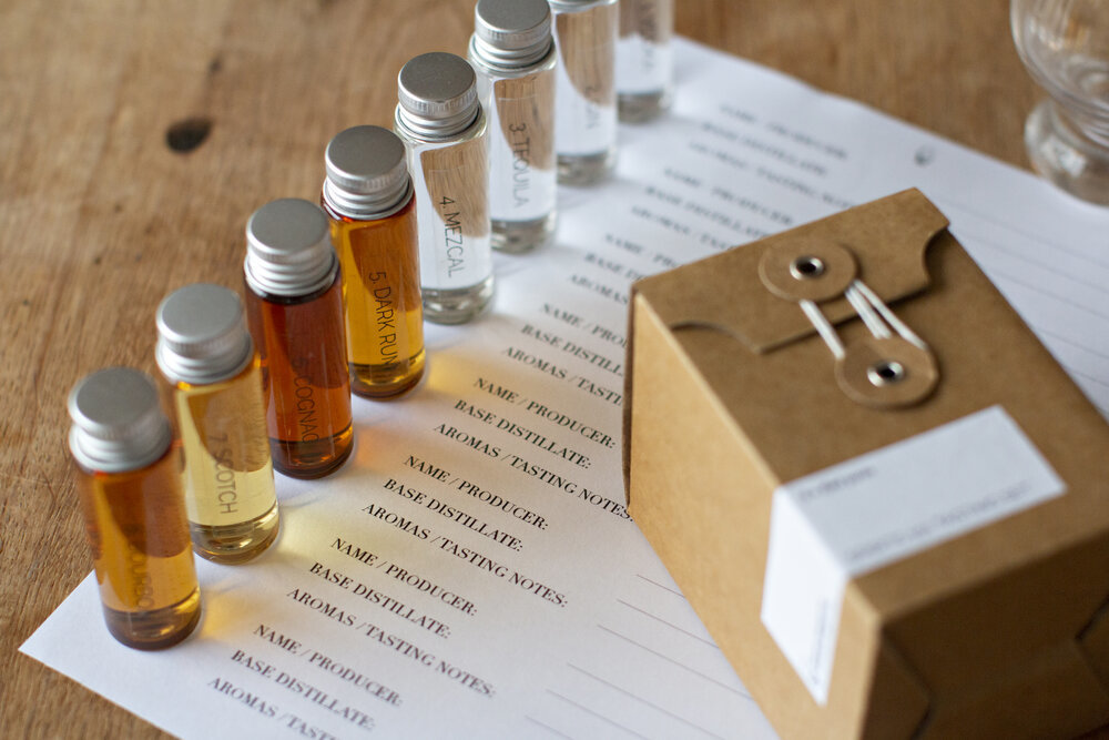 Spirits 101 tasting kit and online class with Victoria Chow