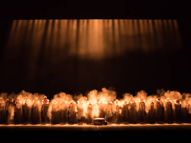 Akram Khan's piece Dust during English National Ballet's dress rehearsal of Lest We Forget at Sadler's Wells Theatre, London on September 07, 2015. Photo: Arnaud Stephenson