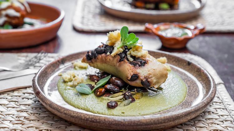 Na Tlali comida vegana platillos mexicanos