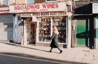 broadway market pavement in Hackney