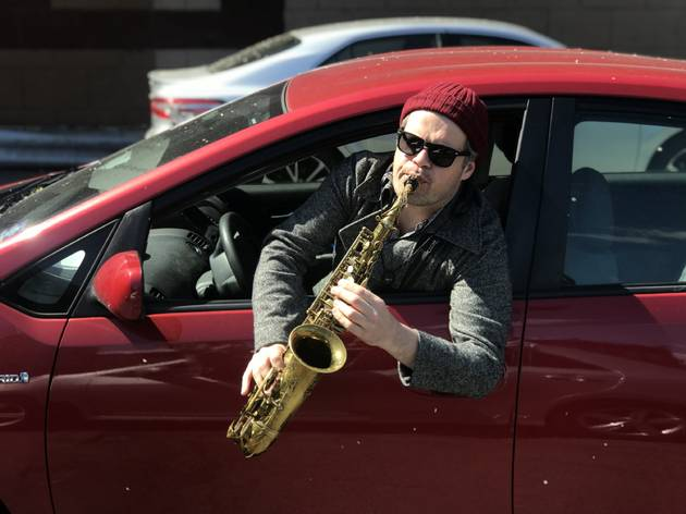 These NYC musicians are playing concerts from cars parked outside of buildings