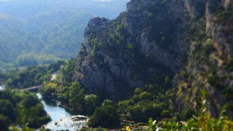 Beautiful Valley of the Roski Waterfall at Krka National Park