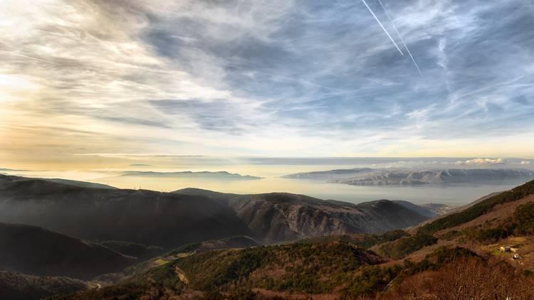 High mountains in croatia seaside