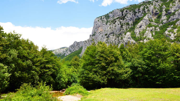 Great Paklenica canyon national park in Velebit mountain