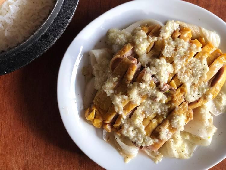 #FondDePlacard34 - Le poulet vapeur, vierge de poireaux de Cuisine