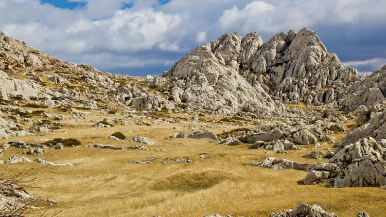 Velebit mountain landscape near Tulove Grede, Dalmatia