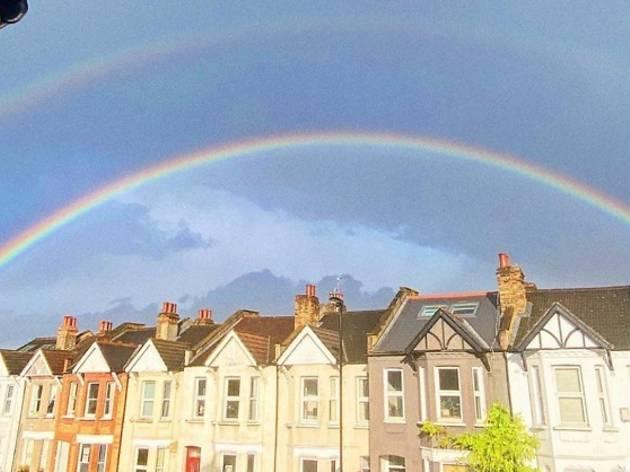 A double rainbow in Brockley, London