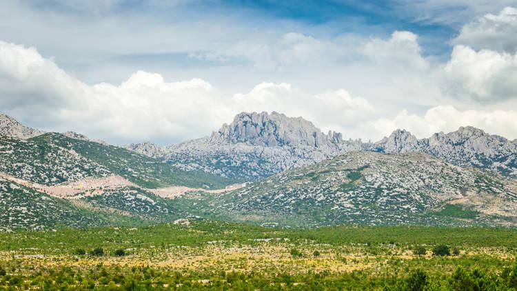 Tulove Grede (Tule beams), rocky limestone massif located in the Velebit Nature Park