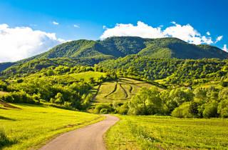 The Žumberak mountain range's Plesivica hills during springtime