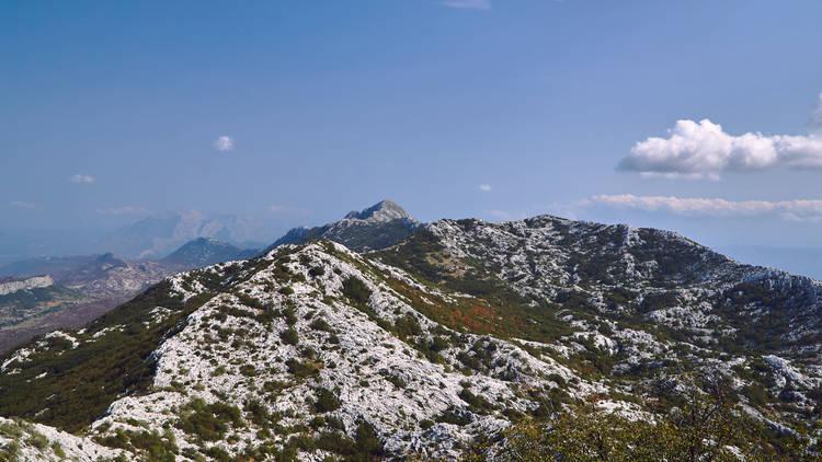 The 1339-metre-tall Mosor mountain makes up part of the Dinaric mountain range near Split