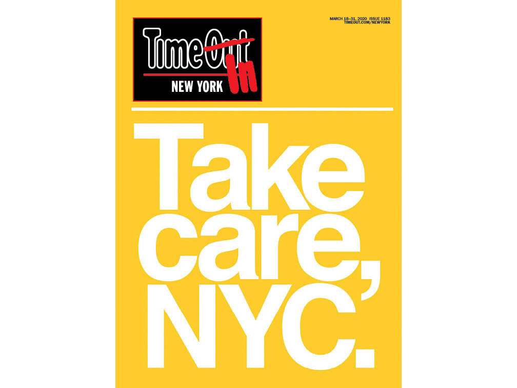 New York magazine cover: Take Care, NYC