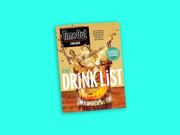 Time Out Chicago Drink List magazine cover