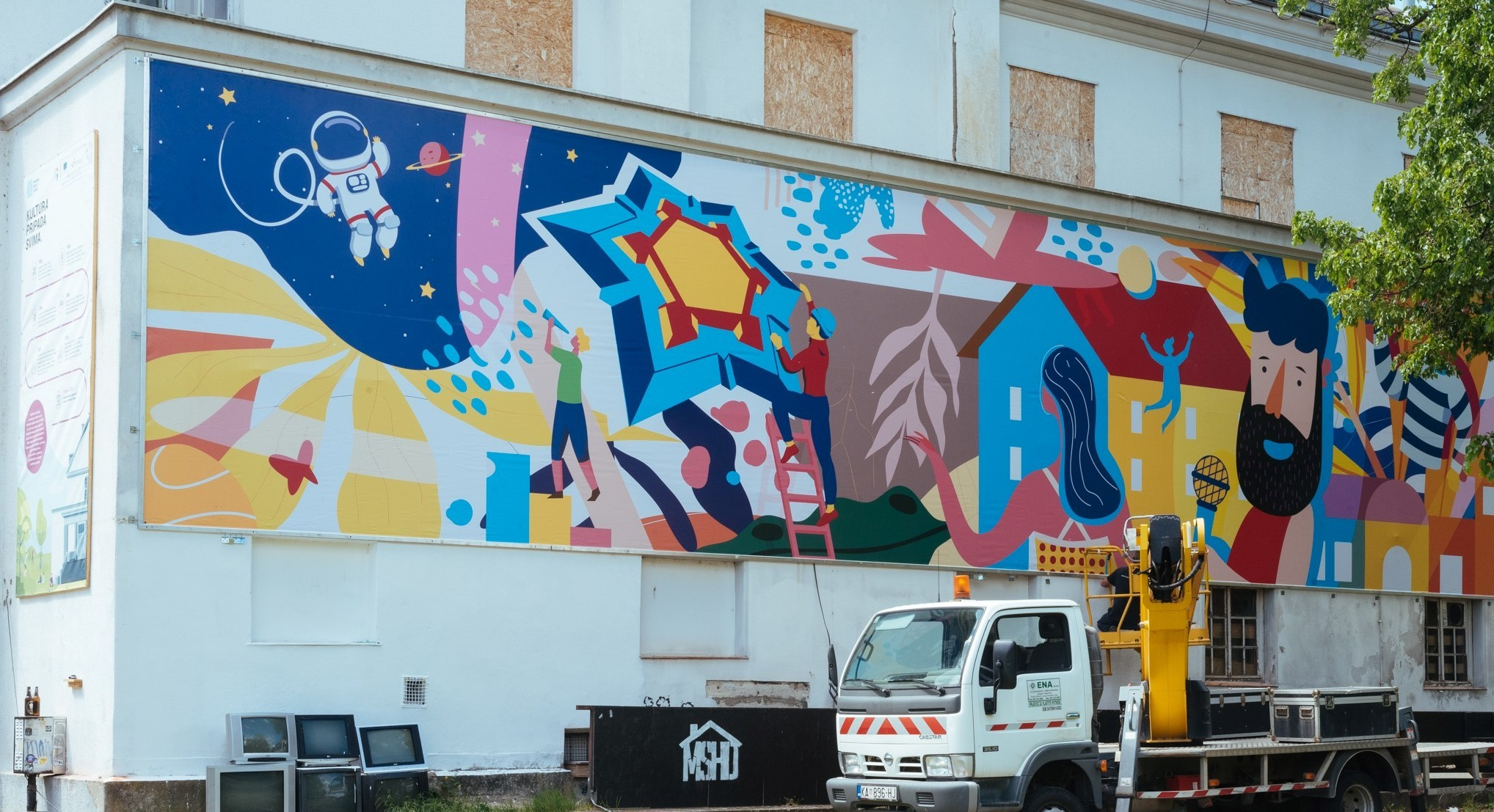Karlovac comes alive with colourful new murals