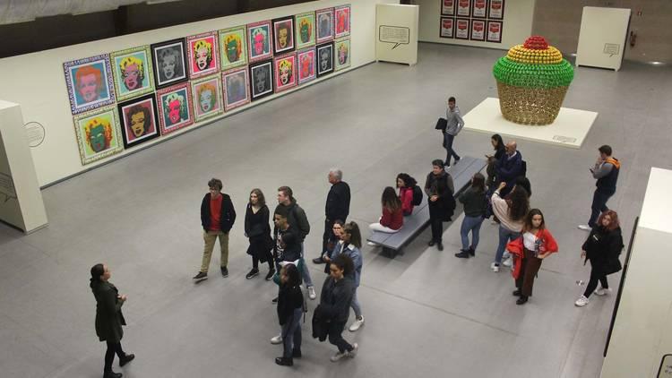O pavilhão da Fundação Bienal de Arte de Cerveira em 2019