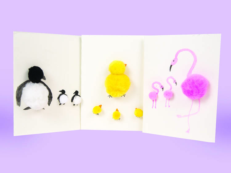 Pom Animals Mother's Day cards