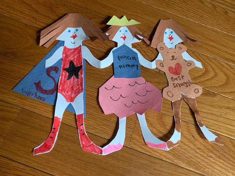 Super hero paper dolls